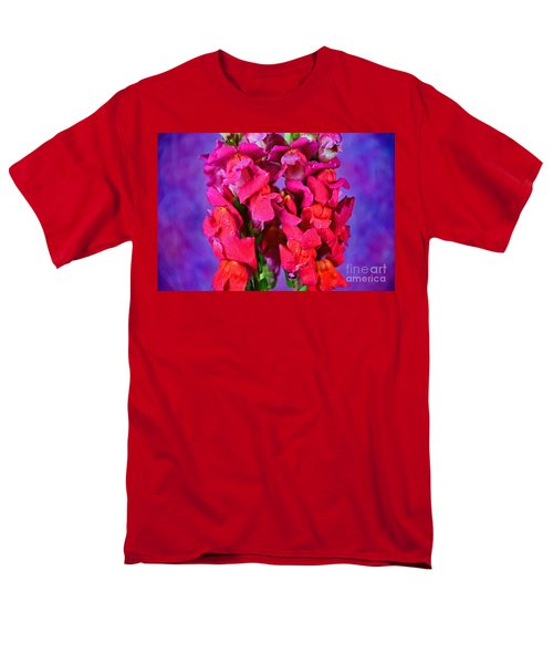 Beautiful Snapdragon Flowers Men's T-Shirt  (Regular Fit) by Ray Shrewsberry