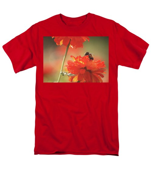 Men's T-Shirt  (Regular Fit) featuring the photograph Bee And Flower II by Donna G Smith