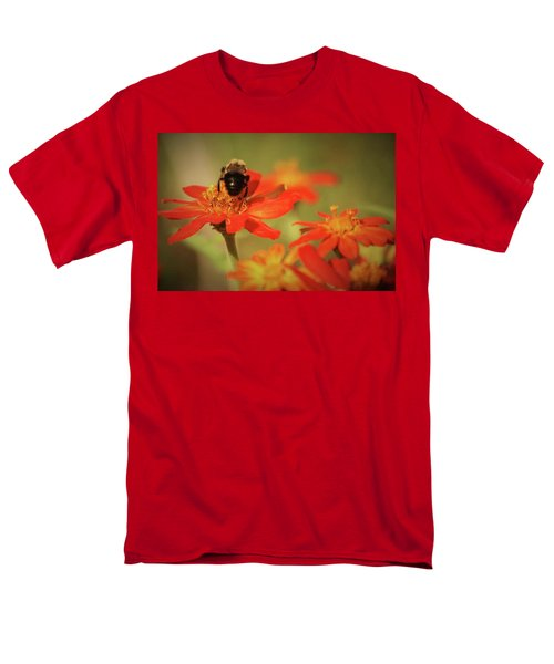 Men's T-Shirt  (Regular Fit) featuring the photograph Bee And Flower IIi by Donna G Smith