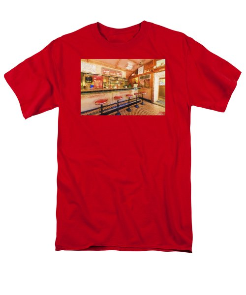 Men's T-Shirt  (Regular Fit) featuring the photograph Bellows Falls Diner by Tom Singleton