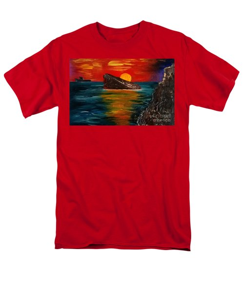 Men's T-Shirt  (Regular Fit) featuring the painting Benidorm by Jeepee Aero