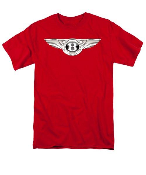 Bentley 3 D Badge On Red Men's T-Shirt  (Regular Fit)