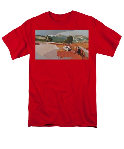 Bergen Peak First Snow Men's T-Shirt  (Regular Fit) by Dan Miller