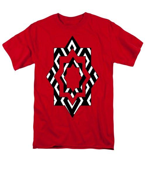 Black And White Pattern Men's T-Shirt  (Regular Fit)