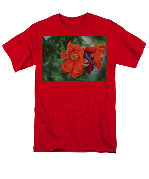 Men's T-Shirt  (Regular Fit) featuring the painting Blooming Poms by Marna Edwards Flavell