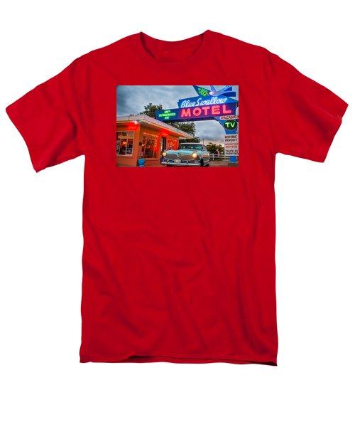 Blue Swallow Motel On Route 66 Men's T-Shirt  (Regular Fit) by Steven Bateson
