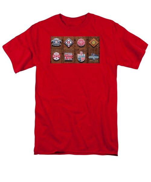 Boston Red Sox World Series Emblems Men's T-Shirt  (Regular Fit) by Diane Diederich