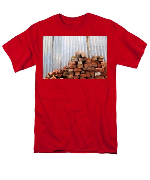 Men's T-Shirt  (Regular Fit) featuring the photograph Brick Piled by Stephen Mitchell