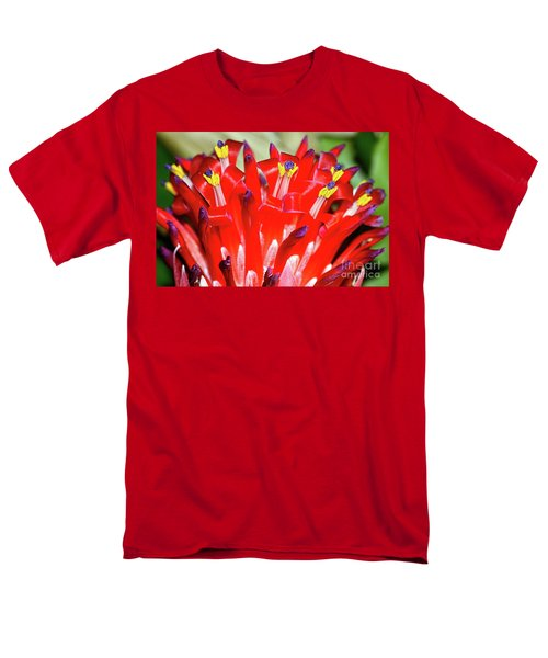 Men's T-Shirt  (Regular Fit) featuring the photograph Bright Blooming Bromeliad By Kaye Menner by Kaye Menner