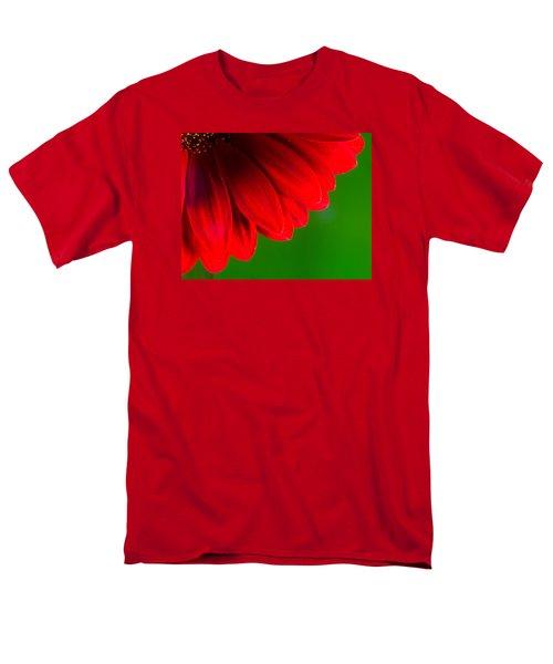 Bright Red Chrysanthemum Flower Petals And Stamen Men's T-Shirt  (Regular Fit) by John Williams