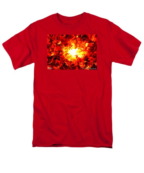 Men's T-Shirt  (Regular Fit) featuring the painting Brighter Than The Sun by Holley Jacobs