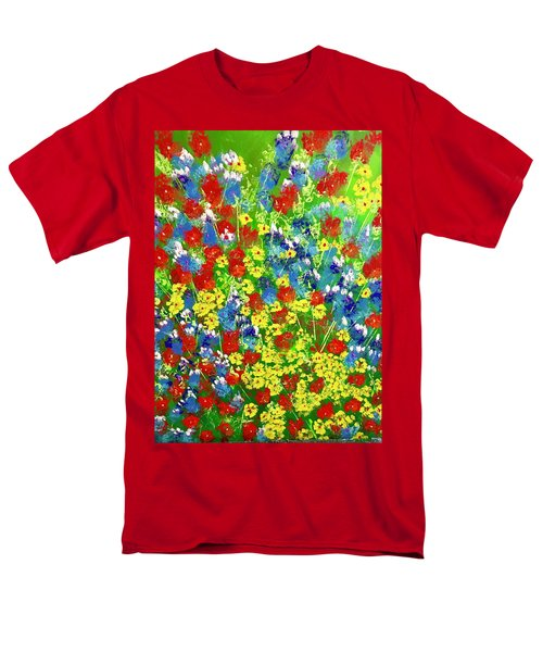 Brilliant Florals Men's T-Shirt  (Regular Fit) by George Riney