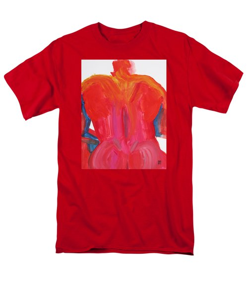 Broad Back Red Men's T-Shirt  (Regular Fit) by Shungaboy X