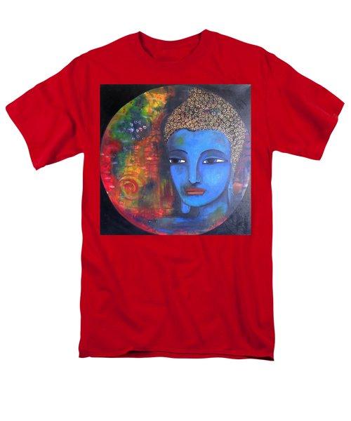 Buddha Within A Circular Background Men's T-Shirt  (Regular Fit) by Prerna Poojara