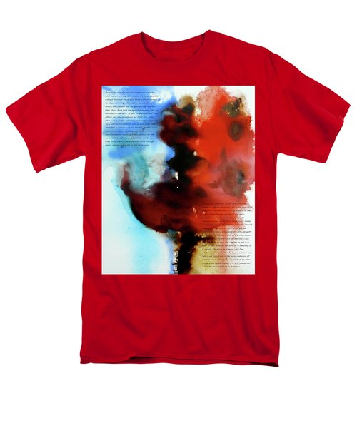 Men's T-Shirt  (Regular Fit) featuring the painting Budding Romance by Jo Appleby