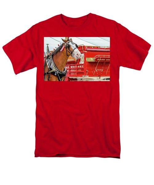 Budweiser Clydesdale In Full Dress Men's T-Shirt  (Regular Fit) by Bill Gallagher
