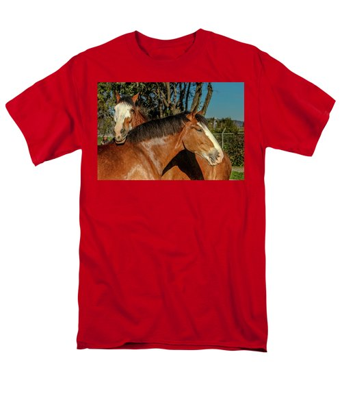 Men's T-Shirt  (Regular Fit) featuring the photograph Budweiser Clydesdales  by Bill Gallagher