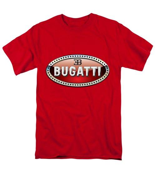 Bugatti - 3 D Badge On Red Men's T-Shirt  (Regular Fit) by Serge Averbukh