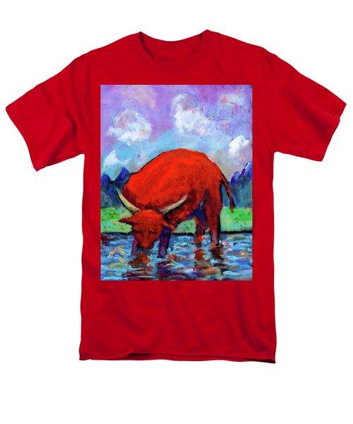 Bull On The River Men's T-Shirt  (Regular Fit) by Maxim Komissarchik