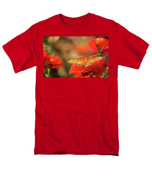 Men's T-Shirt  (Regular Fit) featuring the photograph Butterfly And Flower I by Donna G Smith