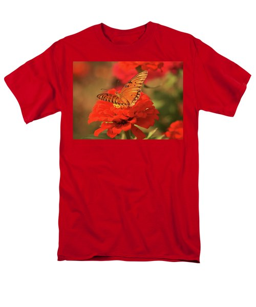 Men's T-Shirt  (Regular Fit) featuring the photograph Butterfly In Garden by Donna G Smith
