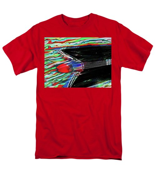 Men's T-Shirt  (Regular Fit) featuring the photograph Cadillac Tail Fin Guitar Fantasy by Patricia L Davidson
