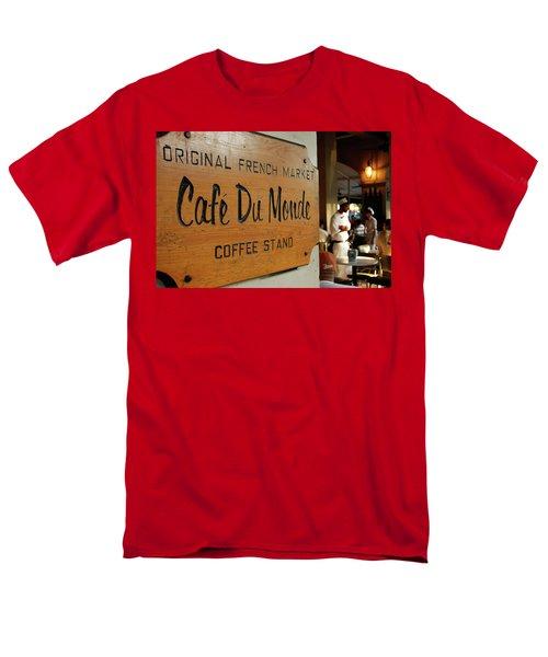 Cafe Du Monde Men's T-Shirt  (Regular Fit) by KG Thienemann