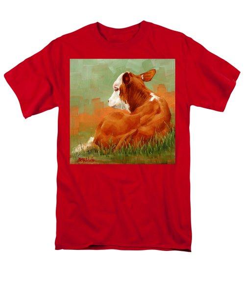 Calf Reclining Men's T-Shirt  (Regular Fit)