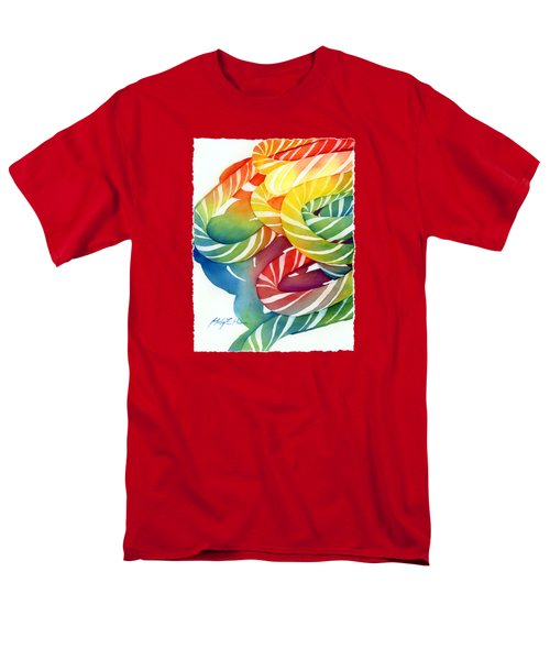 Men's T-Shirt  (Regular Fit) featuring the painting Candy Canes by Hailey E Herrera