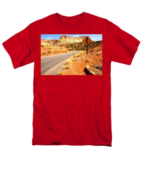 Men's T-Shirt  (Regular Fit) featuring the photograph Capitol Curves Ahead by Adam Jewell