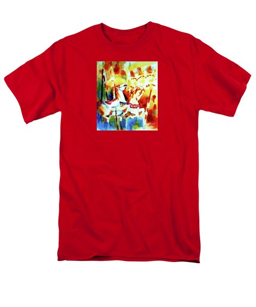 Men's T-Shirt  (Regular Fit) featuring the painting Carousal 4 by Kathy Braud
