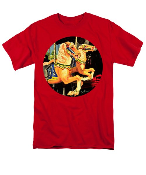 Carousel Palominos Men's T-Shirt  (Regular Fit) by Ruanna Sion Shadd a'Dann'l Yoder