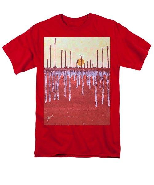 Cattails Original Painting Sold Men's T-Shirt  (Regular Fit) by Sol Luckman