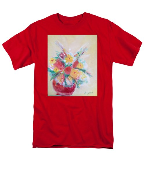 Cheerful Flower Arrangement Men's T-Shirt  (Regular Fit) by Roxy Rich