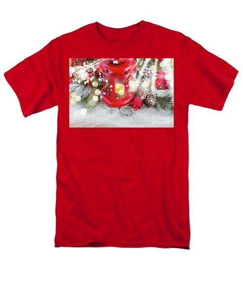 Christmas Red Lantern  Men's T-Shirt  (Regular Fit) by Anastasy Yarmolovich
