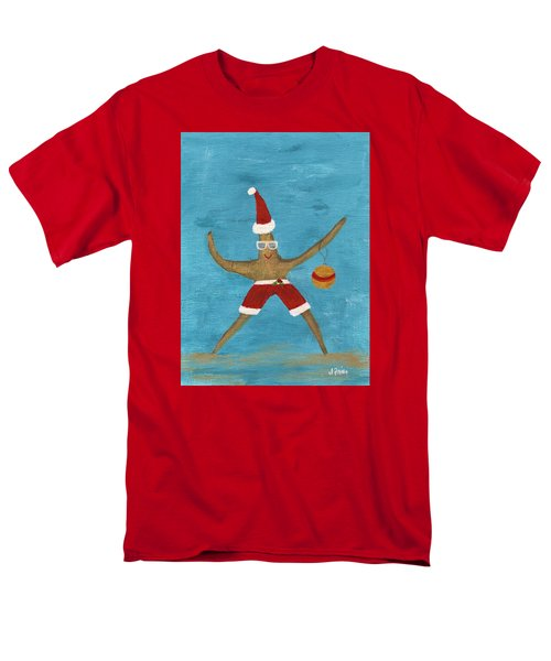 Christmas Starfish Men's T-Shirt  (Regular Fit) by Jamie Frier
