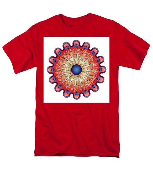 Men's T-Shirt  (Regular Fit) featuring the digital art Circularium No 2664 by Alan Bennington
