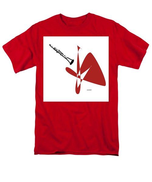 Clarinet In Orange Red Men's T-Shirt  (Regular Fit) by David Bridburg