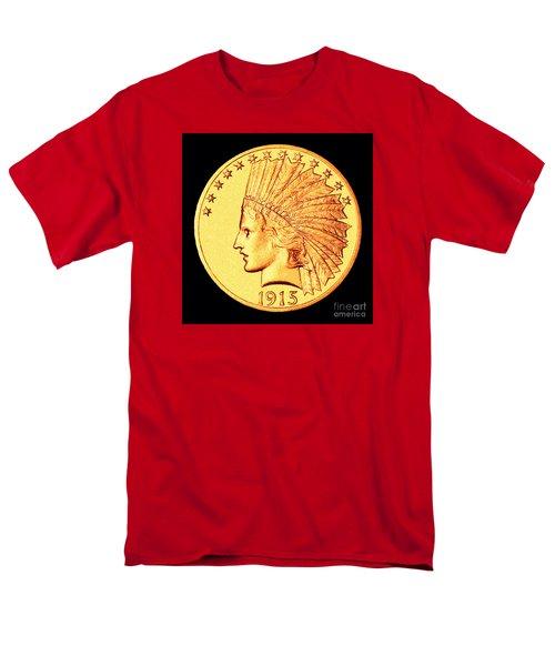Classic Indian Head Gold Men's T-Shirt  (Regular Fit) by Jim Carrell