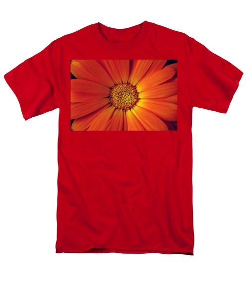 Close Up Of An Orange Daisy Men's T-Shirt  (Regular Fit) by Ralph A  Ledergerber-Photography