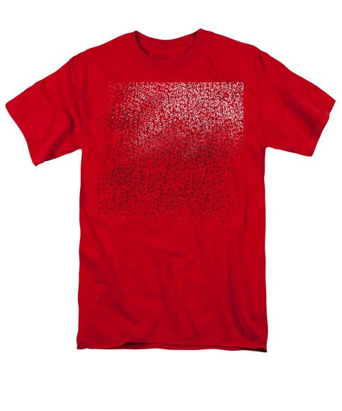 Cloud Of Birds Red Sky Men's T-Shirt  (Regular Fit) by Sverre Andreas Fekjan