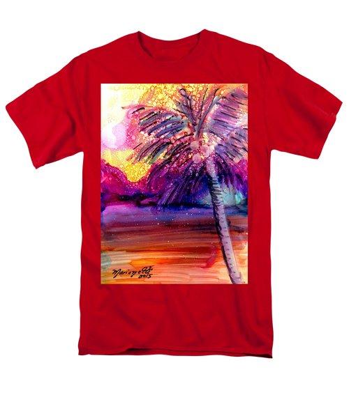 Coconut Palm Tree 2 Men's T-Shirt  (Regular Fit) by Marionette Taboniar