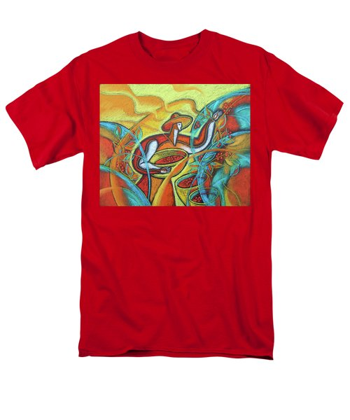 Men's T-Shirt  (Regular Fit) featuring the painting Coffee Bean Harvest by Leon Zernitsky