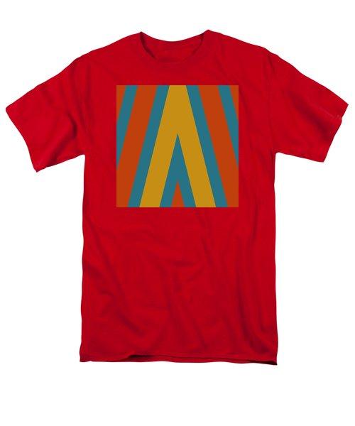 Colorful Chevrons Men's T-Shirt  (Regular Fit) by Bonnie Bruno