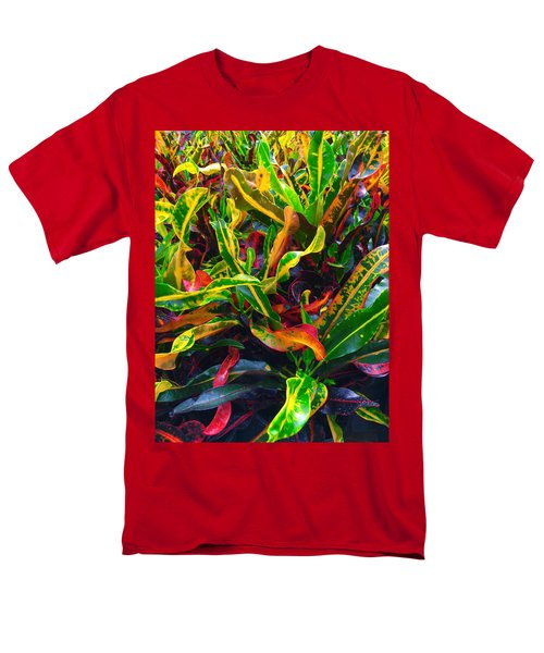 Colorful Crotons Men's T-Shirt  (Regular Fit) by Kay Gilley