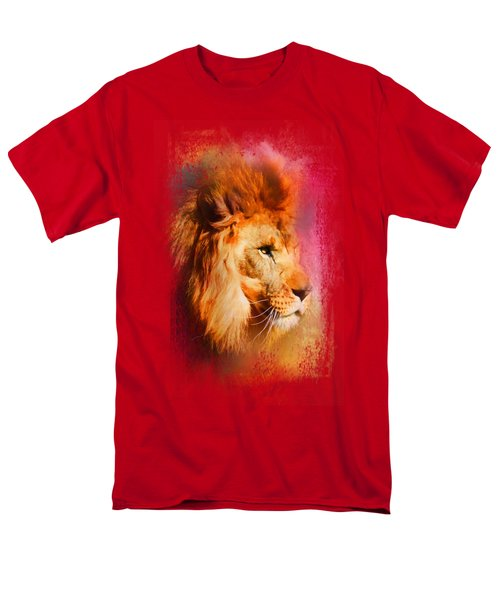 Colorful Expressions Lion Men's T-Shirt  (Regular Fit) by Jai Johnson