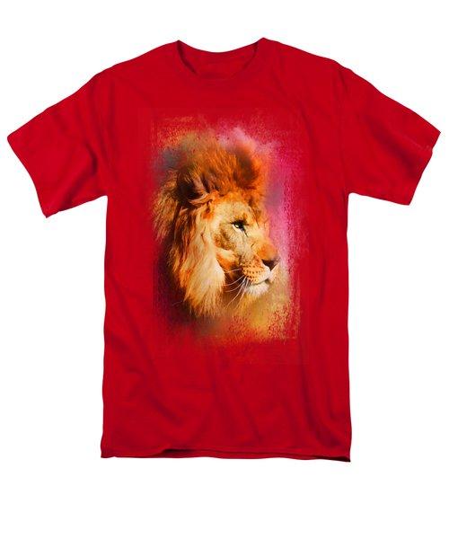 Colorful Expressions Lion Men's T-Shirt  (Regular Fit)