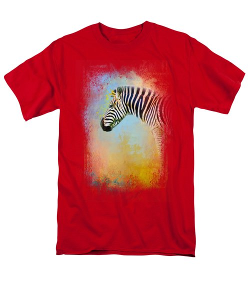Colorful Expressions Zebra Men's T-Shirt  (Regular Fit) by Jai Johnson