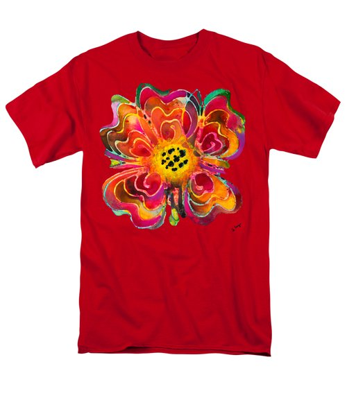 Colorful Flower Art - Summer Love By Sharon Cummings Men's T-Shirt  (Regular Fit) by Sharon Cummings