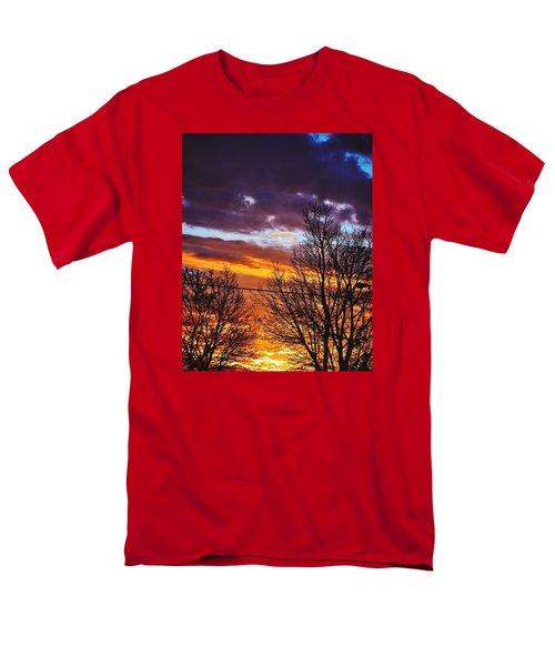 Colorful Skies Men's T-Shirt  (Regular Fit)